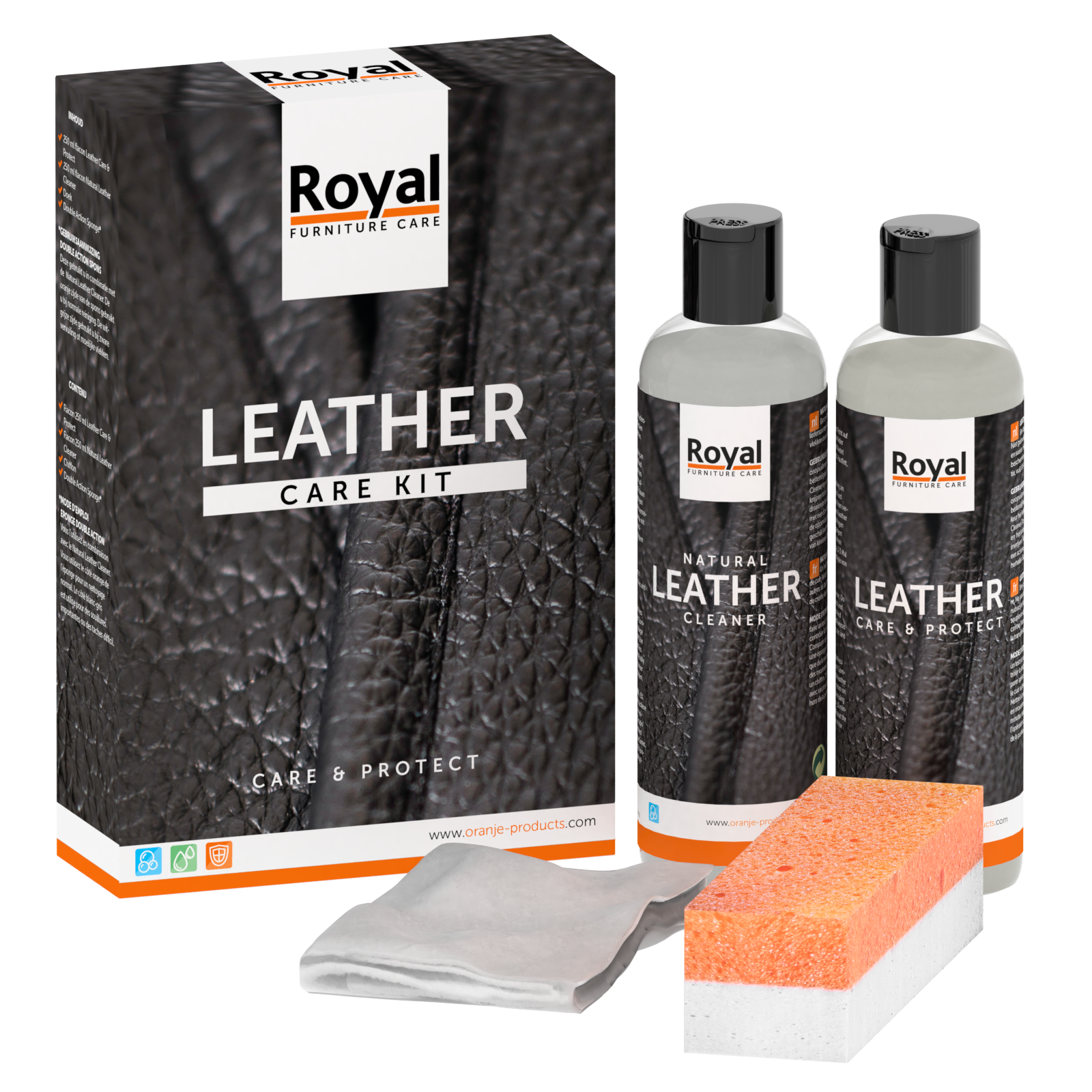 Royal Leather Care Kit MAXI - sada na kůži veliká